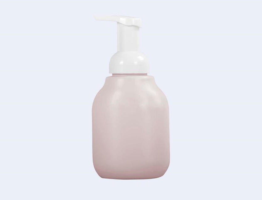 Pink Plastic Pump Bottle