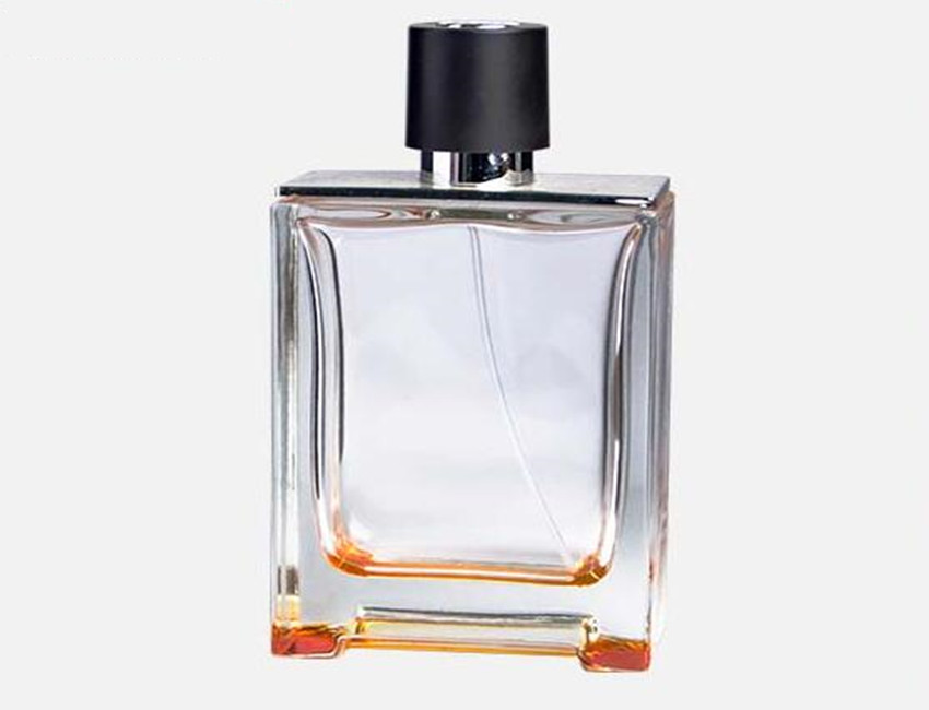 Clear Square Glass Perfume Bottle Empty